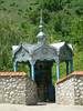 """Well with """"holy water""""  in Saharna monastery complex"""