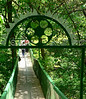 Bridge over a stream in the grounds at Saharna