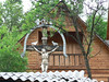 Crucifix outside house in Maramures