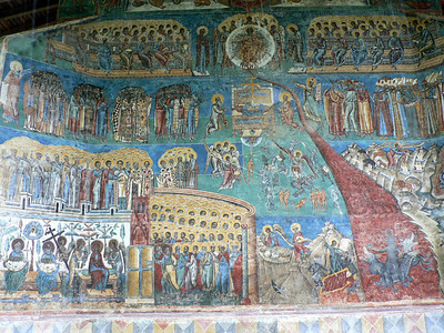 All monasteries feature the Day of Judgement, usually at least one over the front door