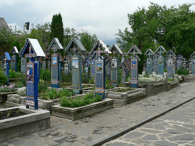 Part of Merry Cemetery in Sapanta