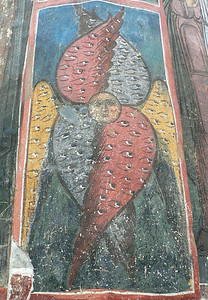 I see thse winged faces a lot in Orthodox churches and monasteries, they fascinate me