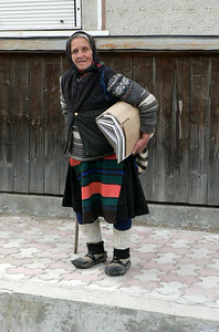 Local woman in Maramures