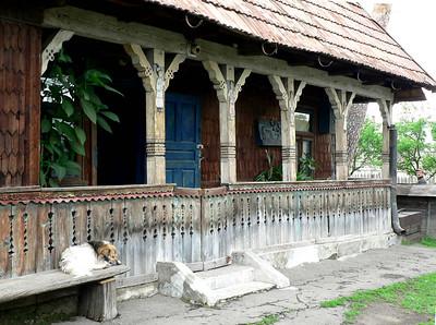 Carpenter's house, Merry Cemetery in Sapanta