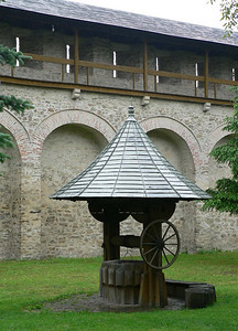 A well inside one of Bucovina's monasteries