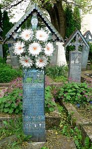 Grave marker in Merry Cemetery in Sapanta