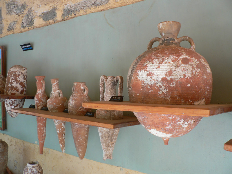 Amphorae in the Museum of Underwater Archeology in Bodrum castle