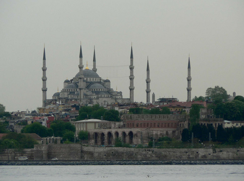 View of the Blue Mosque, Istanbul from the ferry to the Princes' Islands