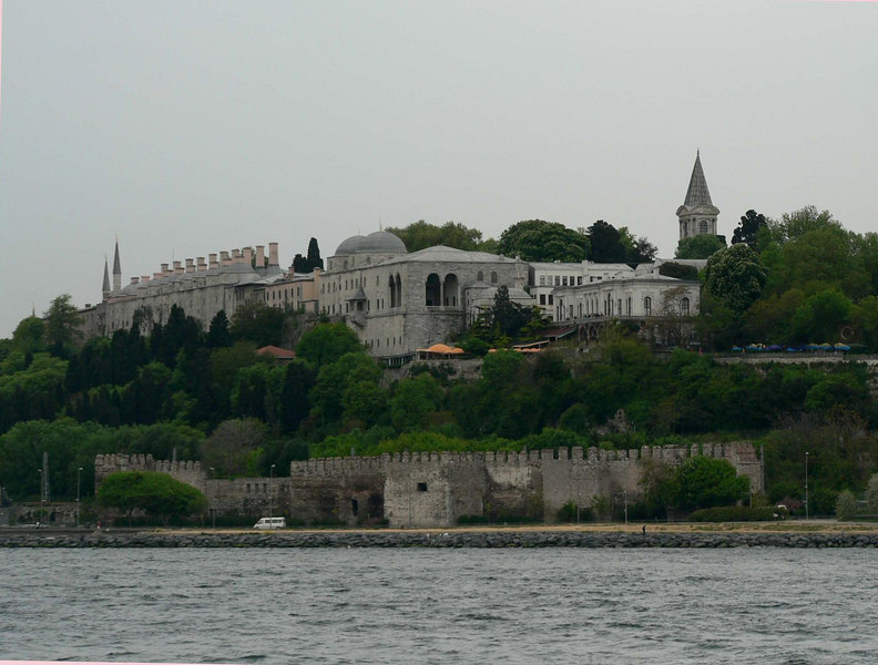 View of Topkapi Palace, Istanbul from the ferry to the Princes' Islands