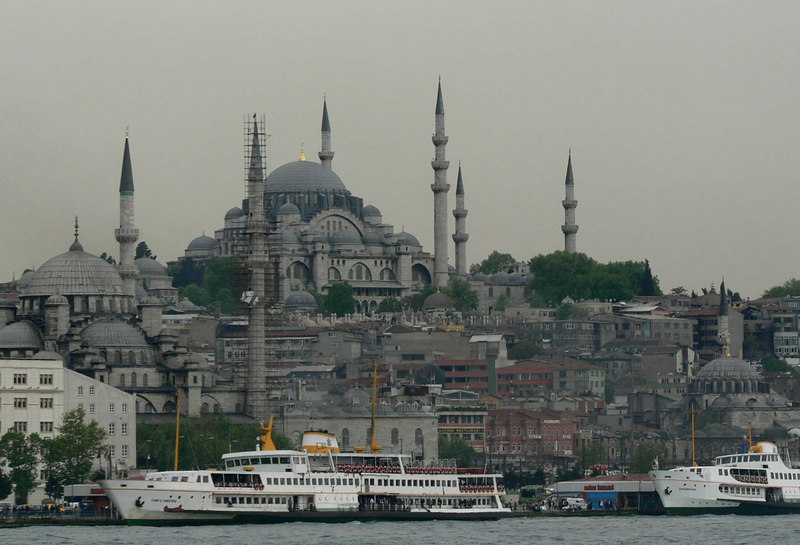 View of Istanbul from the ferry to the Princes' Islands