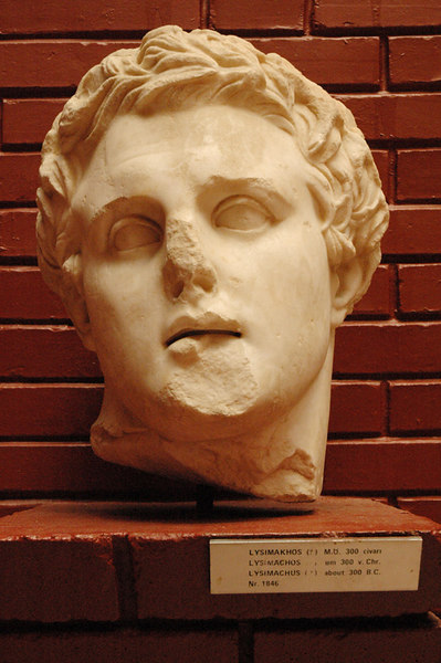 """Lysimachus - click <a href=""""http://www.historyofmacedonia.org/AncientMacedonia/Lysimachus.html"""">here</a> for more info."""