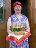 Hutsul woman with wedding cake
