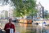 Although I am glad we saw the Anne Frank House it was neither a moving nor interesting experience.  It was far more enjoyable to be outside enjoying the canals.  The town council began work on the vast network of canals in 1556. The canals are up to 30 yards wide and, together with the canal house architecture, are the outstanding features of Amsterdam - at least for me.