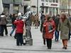 """""""living sculpture""""  in the Stephansplatz outside the Stephansdom"""