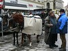 Fiacres - horse-drawn carriages - were an expensive alternative to public transport - or your own feet