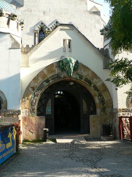 Entrance to the elephant house