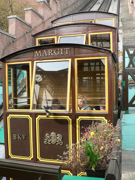The funicular on Castle Hill