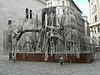 The Tree of Life  in the Raoul Wallenberg Park behind the synagogue, with the name of a victim who disappeared or died during the Nazi occupation engraved on almost all of the 30,000 leaves.