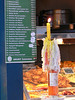 Menu with candle, Market Hall