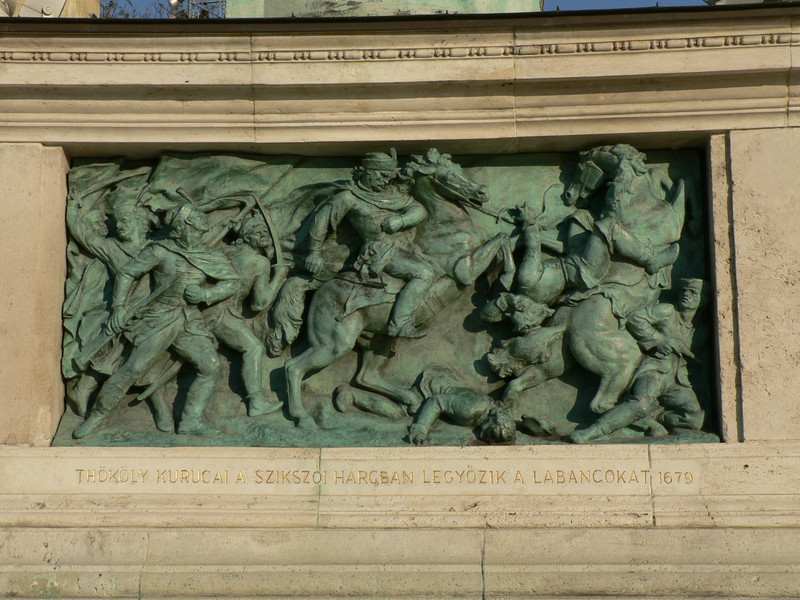 Detail of the millennium memorial in Hero's Square