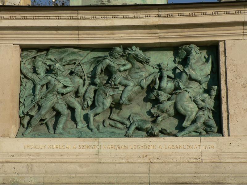 Detail of the millennium memorial in Hero's Square