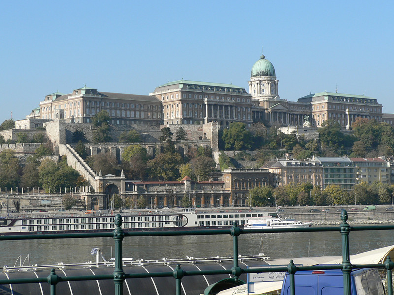 Looking at Buda's Castle Hill from Pest near the Marriott