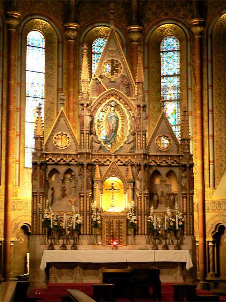 Inside St. Matyas Church