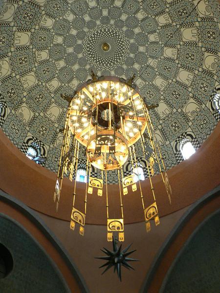 The ceiling inside the elephant house