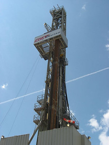 A Deutrag rig drilling the Kempten-1 exploration well in southern Bavaria