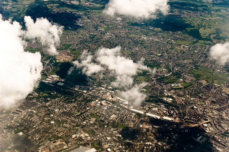 Manchester from the air Air Berlin AB8264 Hamburg Manchester