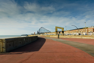 Waterfront promenade Blackpool England