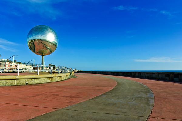 Waterfront promenade Blackpool England