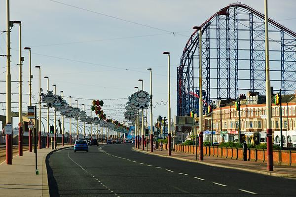 Street decorations Blackpool Emgland