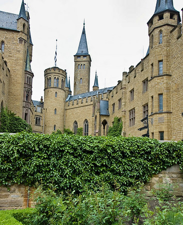 Main buildings Hohenzollern Castle Germany - Jun 2008