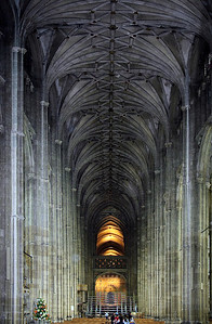 The nave Canterbury Cathedral Kent