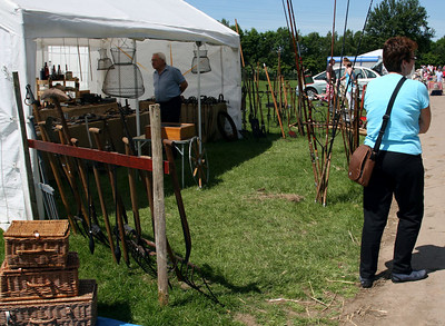 Antique Fair in Oswestry on the way to Wales.