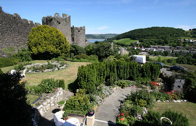 View from our room looking down the walls of Conwy.