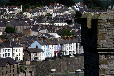 Overlooking Caernarfon from the castle.