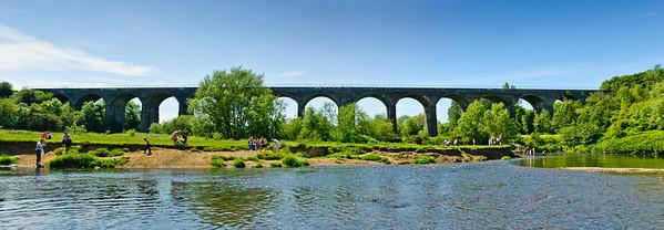Tame Viaduct Sixteen Arches Reddish Vale Denton Manchester United Kingdom