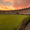 Royal Crescent at sunset