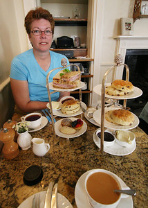Afternoon tea at Betty's in York.  Service, food, and tea - all excellent!  Twice!