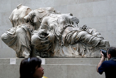 British Museum - We were in Greece 2 years ago, and definitely came to see the Elgin Marbles.  They're amazing!  Interestingly, the museum at the Parthenon restricted my photography, but the British Museum has no restrictions.  Lots of controversy about who should have these.  For more info:  http://tinyurl.com/68793y and http://www.greece.org/parthenon/marbles/