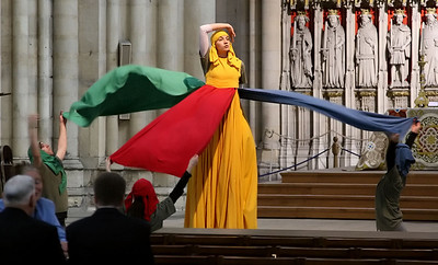 Dance performance in York Minster