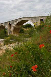 A roman bridge....still standing and in use until a few years ago.  Those arches are something.