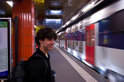 Jeff was good at finding his way around on the subway.  I usually just followed him around.