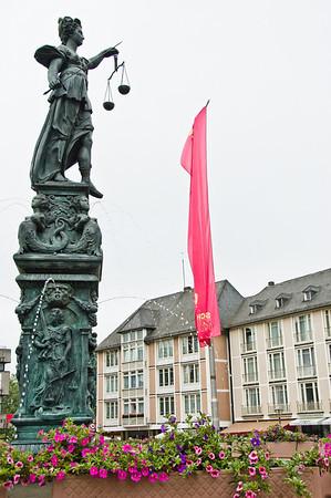 Gerechtigkeitsbrunnen, 'Font of Justice' Frankfurt Germany - 1 Jun 2008