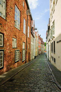 Cobled street Lübeck