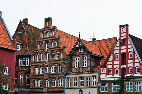 House fronts Stint Market Luneburg Germany