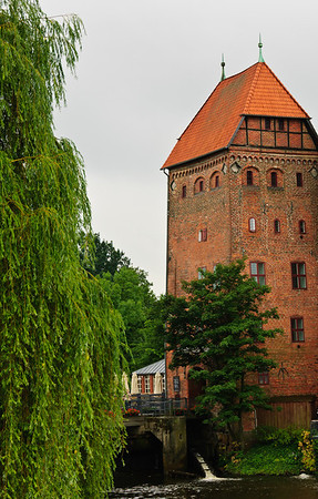 Old water mill house Luneburg Germany