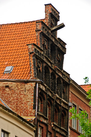 House front Luneburg Germany